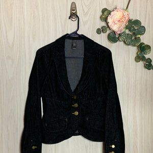 Bisou Bisou Michele Bohbot Fitted Denim Blazer 10